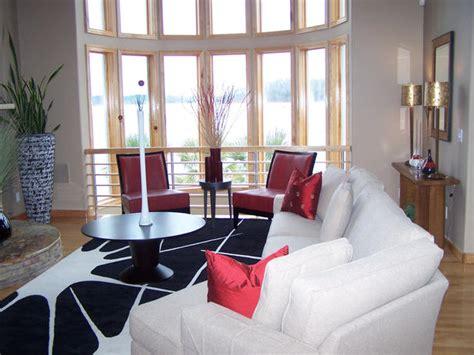 Hgtv Modern Living Room by Black White And All Living Room Hgtv