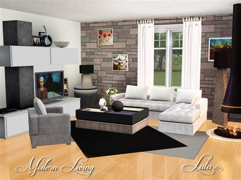 sims 3 living room sets lulu265 s modern living