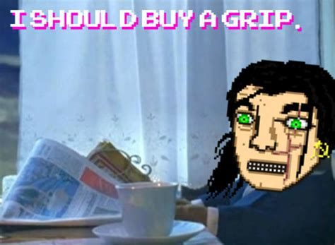Hotline Miami Meme - i should buy a grip hotline miami know your meme
