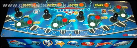Nfl Blitz Arcade Cabinet by Blitz Showtime Panel Sticker Cover Klov Vaps