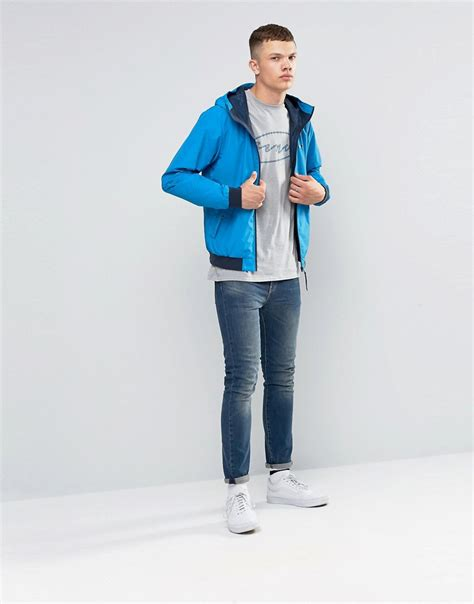 where is bench clothing made lyst bench zip through lightweight jacket in blue in