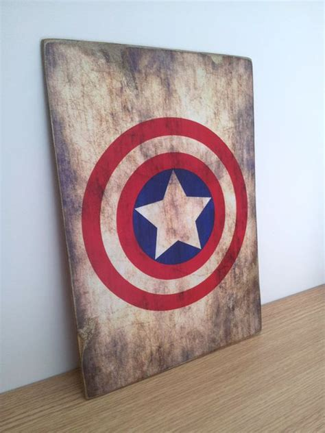 marvel superhero wood block home decor kids by captain america distressed wooden sign marvel comics