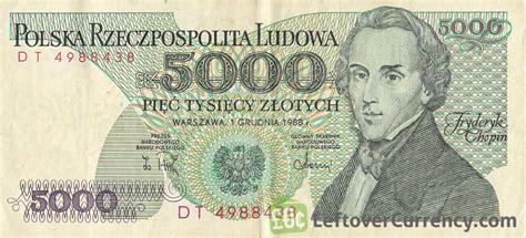 currency converter zloty 5000 old polish zloty note fryderyk chopin exchange