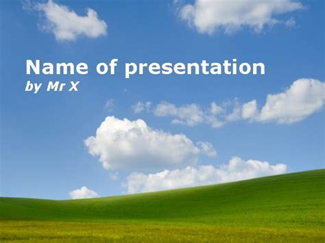 template powerpoint landscape soothing countryside landscape powerpoint template
