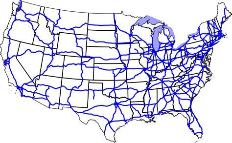 map of us states with interstates maps united states map interstates