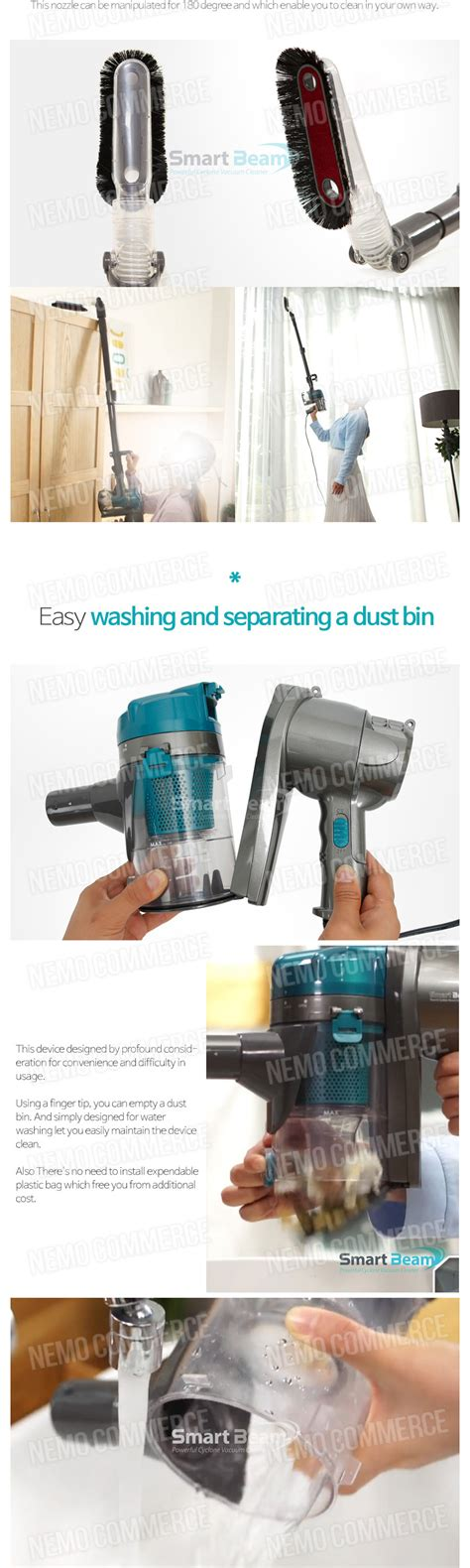 Style Powerful Portable Cyclone Vacuum Cleaner Penyedot Debu wintech powerful cyclone vacuum cleaner smart beam win 4001wc handheld dyson style hepa