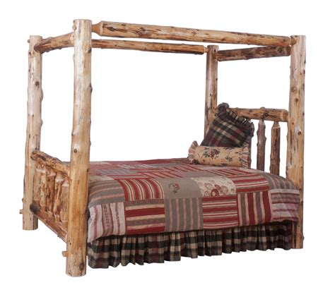 king size log bed rustic beds king size canopy log bed black forest decor