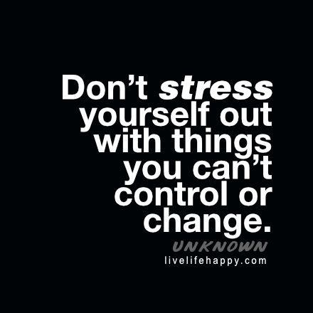 www happy don t stress yourself out with things you can t control or
