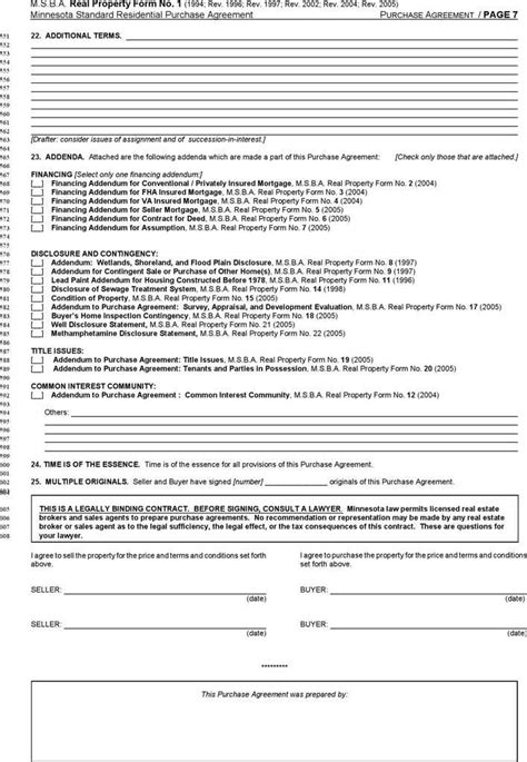 Minnesota Standard Residential Purchase Agreement Download Free Premium Templates Forms Mn Purchase Agreement Template