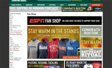 sporting goods state college pa dick s sporting goods to power espn s fan shop