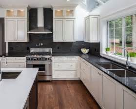 backsplash for black and white kitchen 17 best images about kitchen backsplash countertops on