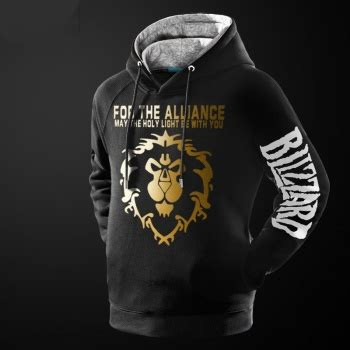 Hoodie Warcraft For The Alliance Fightmerch 2016 world of warcraft wow logo t shirts wishining