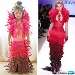 themes taken by fashion designers this 4 year old makes paper dresses with her mom and