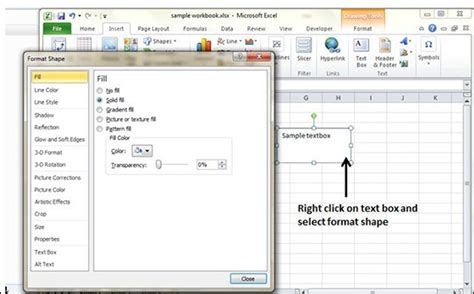 tutorialspoint exles add text box in excel 2010