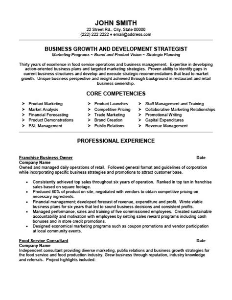 Resume Exles Small Business Owner Franchise Business Owner Resume Template Premium Resume Sles Exle