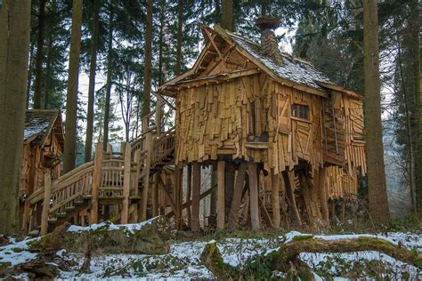 Baumhaus Bauen Deutschland by Holzhaus Baumhaus Baumh 252 Tte 183 Kostenloses Foto Auf Pixabay