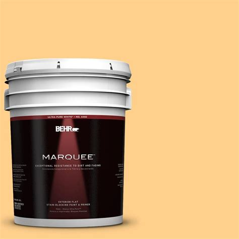 home depot marquee exterior paint colors behr marquee 5 gal 300b 5 honey bird flat exterior paint