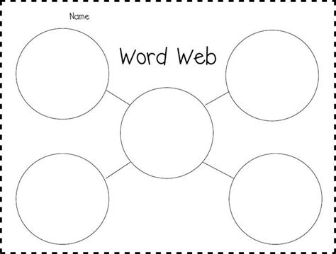 Word Web Graphic Organizer 2nd Grade Word Web Graphic Organizers Words Concept Web Template For Word