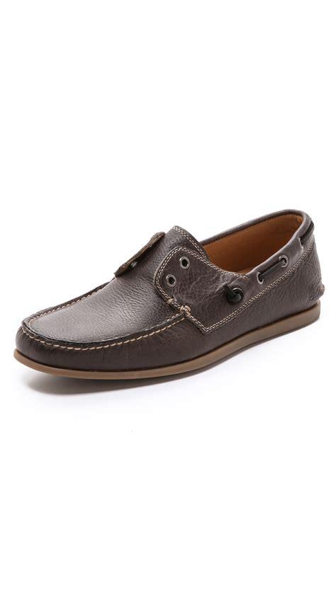 john varvatos boat shoes john varvatos schooner laceless boat shoes in brown for
