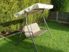 Garden Seat With Canopy by Brown 3 Seater Garden Swing Seat Hammock With Seat And