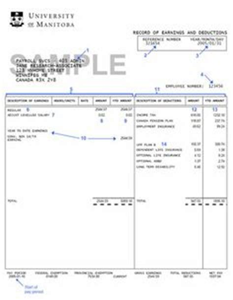pay stub template ontario fillable paystub autos weblog