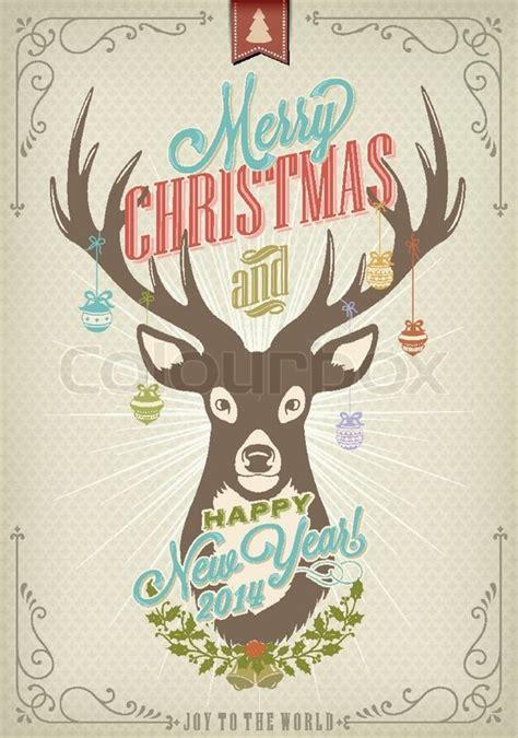 merry christmas vintage stock vector colourbox
