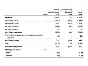 basic income statement template basic income statement template ebook database