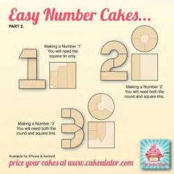 How To Make A Birthday Cake Out Of Paper - how to create easy number cakes no special tins required