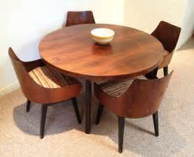 Dining table danish modern round dining table set chairs swivel