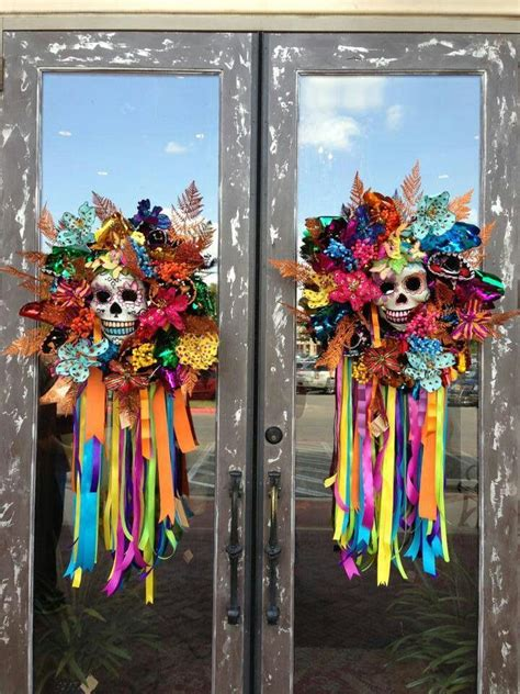 How To Decorate For Dia De Los Muertos by Could Use Dollar Tree Door Knockers To Recreate These