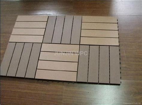 synthetic wood flooring wpc wood plastic composite diy floor for patio outdoors