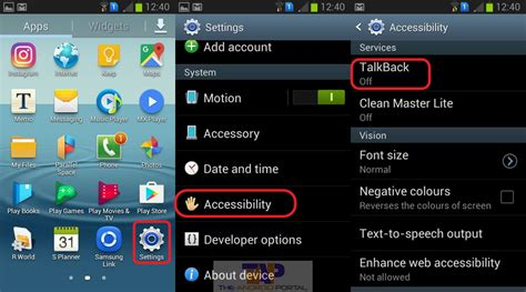 talkback android how to turn talkback feature on android