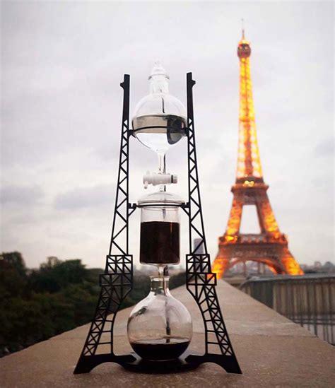 dutch lab reveals architectural steampunk cold drip coffee machine