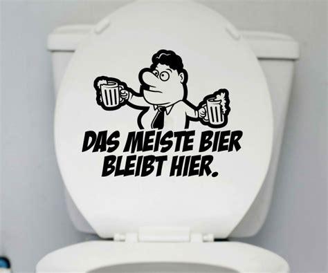 Lustige Bad Aufkleber by Wc 25x20cm Deckel Bier Aufkleber Toilette Lustig Spruch