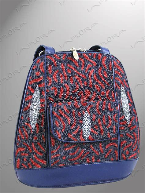 batik bag pattern stingray shoulder bag batik pattern red blue genuine