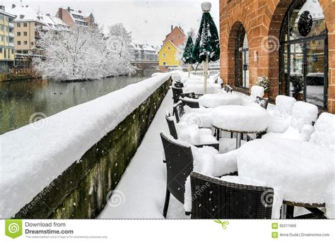 fluffy snow in nuremberg germany amazing snowy outdoor