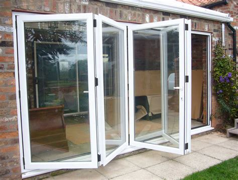 Sliding Folding Glass Doors Tectura Four Pane Aluminium Bifold Door