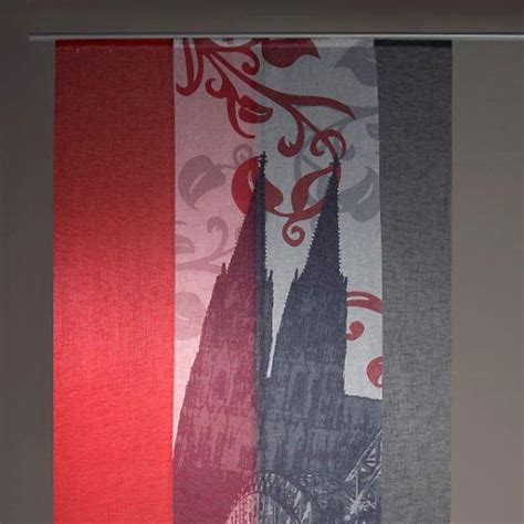 Schiebegardinen Reinigen by Fl 228 Chenvorhang K 246 Ln Rot Schiebegardine Schiebevorhang Ebay