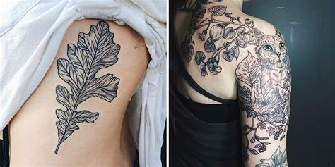 flora and fauna tattoos inspired by vintage science drawings