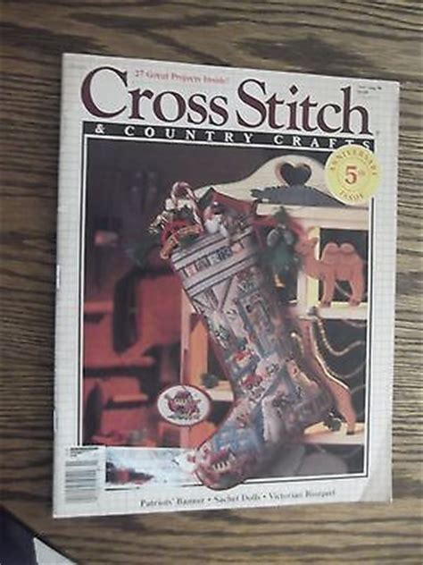 cross stitch country crafts magazine with christmas