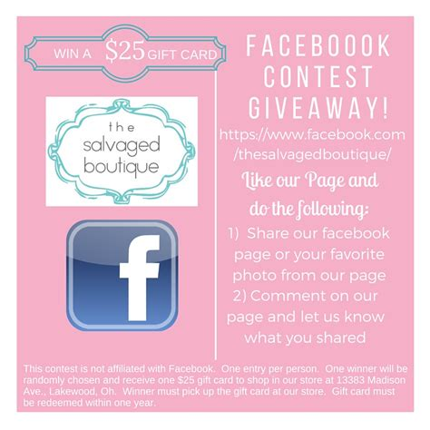 Boutique Giveaway Ideas - facebook giveaway help us get to 2000 likes the salvaged boutique