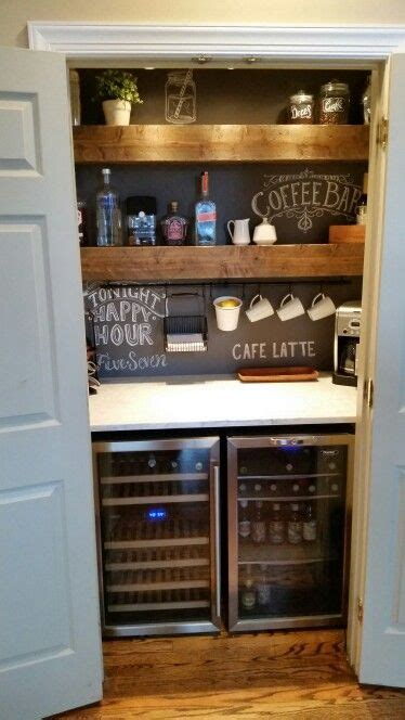 closet bar coffee   chalkboard  pinterest