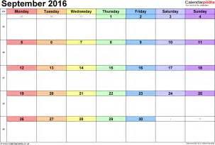 a4 calendar template september 2016 printable calendar blank templates