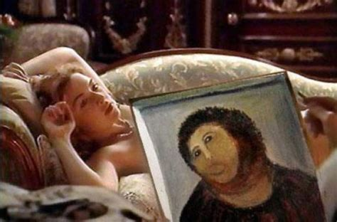 Jesus Painting Restoration Meme - internet responds to jesus fresco restoration fail 25