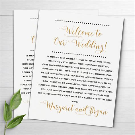 appreciation letter after a wedding wedding welcome notes wedding itinerary welcome letters