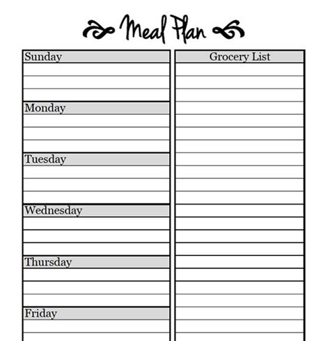 printable meal planner for toddlers printable meal planning templates to simplify your life