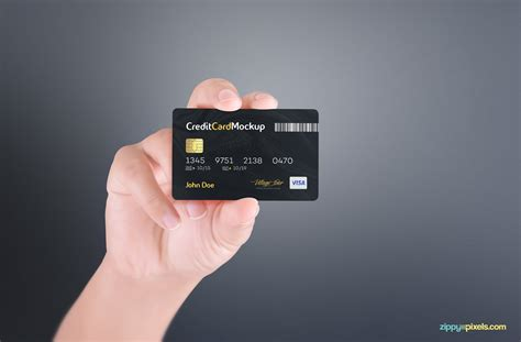 Credit Card Psd Template Free by Free Credit Card Mockup Zippypixels