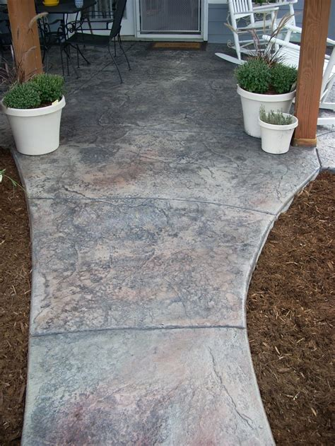 textured and colored concrete walkway my garden pinterest