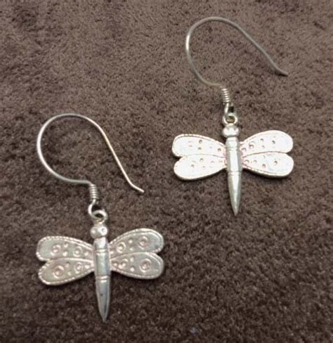 Handcrafted Jewelry Business For Sale - sterling silver dragonfly hook earrings handcrafted