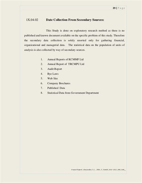 Mba Project Report On Auditing by Mba Project Study Report